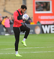 Lincoln City's Matt Green during the pre-match warm-up<br /> <br /> Photographer Chris Vaughan/CameraSport<br /> <br /> Emirates FA Cup First Round - Lincoln City v Northampton Town - Saturday 10th November 2018 - Sincil Bank - Lincoln<br />  <br /> World Copyright &copy; 2018 CameraSport. All rights reserved. 43 Linden Ave. Countesthorpe. Leicester. England. LE8 5PG - Tel: +44 (0) 116 277 4147 - admin@camerasport.com - www.camerasport.com