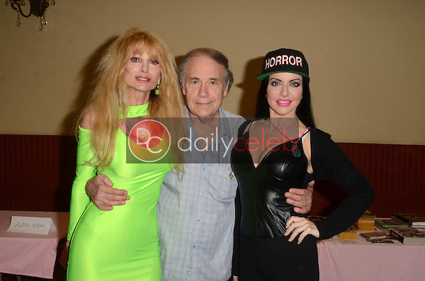 Laurene Landon, Don Glut, Ivonna Cadaver<br /> at the San Fernando Valley Comic Book Convention, Granada Pavilion, Granada Hills, CA 08-14-16<br /> David Edwards/DailyCeleb.com 818-249-4998