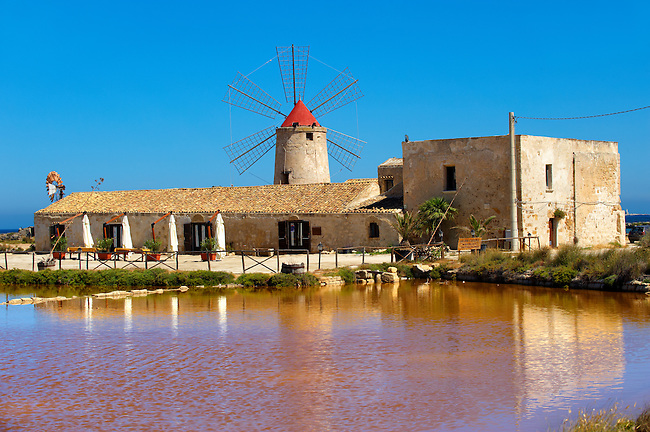 Nubia Salt Museum, Trapani Sicily. travel stock photos