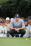 23rd September, 2006. .European Ryder Cup Team player Sergio Garcia lines up his putt on the 2nd green during the afternoon fourball session of the second day of the 2006 Ryder Cup at the K Club in Straffan, County Kildare in the Republic of Ireland..Photo: Eoin Clarke/ Newsfile.