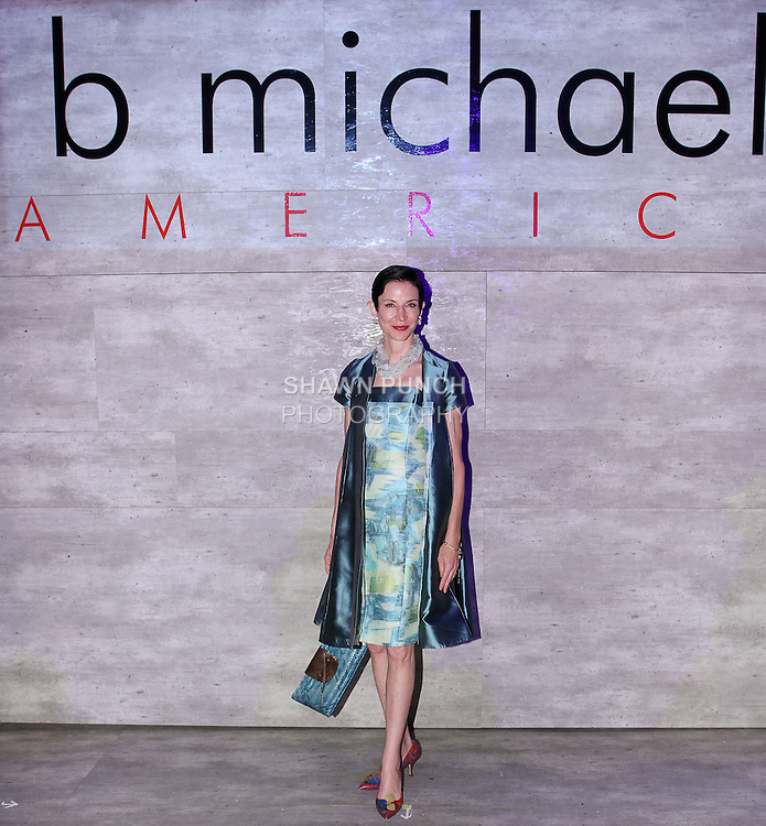 Amy Fine Collins attends the b michael AMERICA Couture Spring 2015 fashion show during Mercedes-Benz Fashion Week Spring 2015 in New York City.
