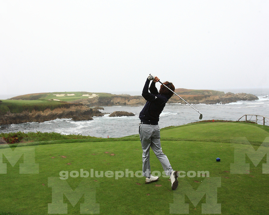 The University of Michigan men's golf team at the Stanford Classic at Cypress Point in Pebble Beach, Calif., on October 29, 2012.