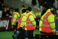 Stewards at the London Stadium during West Ham United vs Cardiff City, Premier League Football at The London Stadium on 4th December 2018
