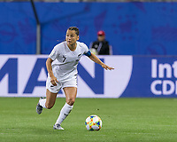 GRENOBLE, FRANCE - JUNE 15: Ali Riley #7 of the New Zealand National Team on the attack during a game between New Zealand and Canada at Stade des Alpes on June 15, 2019 in Grenoble, France.