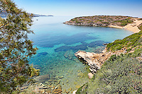 The beach Kolona near Batsi in Andros, Greece