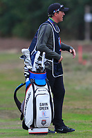 Kenneth Quillinan caddy for Gavin Green (MAS) on the 2nd fairway during Round 2 of the Sky Sports British Masters at Walton Heath Golf Club in Tadworth, Surrey, England on Friday 12th Oct 2018.<br /> Picture:  Thos Caffrey | Golffile<br /> <br /> All photo usage must carry mandatory copyright credit (&copy; Golffile | Thos Caffrey)