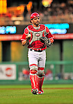 6 June 2009: Washington Nationals' catcher Wil Nieves in action against the New York Mets at Nationals Park in Washington, DC. The Nationals defeated the Mets 7-1, with pitcher John Lannan going the distance for his first career complete-game. Mandatory Credit: Ed Wolfstein Photo