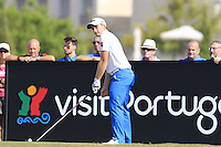 Paul Dunne (IRL) tees off during Thursday's Round 1 of the 2016 Portugal Masters held at the Oceanico Victoria Golf Course, Vilamoura, Algarve, Portugal. 19th October 2016.<br /> Picture: Eoin Clarke   Golffile<br /> <br /> <br /> All photos usage must carry mandatory copyright credit (© Golffile   Eoin Clarke)