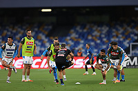 13th June 2020; Stadio San Paolo, Naples, Campania, Italy; Coppa Italia Football, Napoli versus Inter Milan; Napoli players warm up