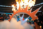 1st October 2017, Wembley Stadium, London, England; NFL International Series, Game Two; Miami Dolphins versus New Orleans Saints; Mike Pouncey of the Miami Dolphins leads his side out of the tunnel
