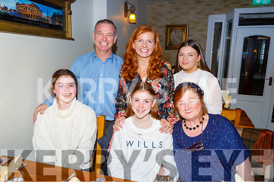 Lucy O'Connor from Tralee celebrating her 13th birthday on Friday.<br /> Seated l to r: Lucy and Grace O'Connor and Ann Lyons.<br /> Back l to r: Paul, Fiona and Rebecca O'Connor.