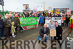 Brian Finucane, Rowan Healy, Stacks Villas and Kevin Murphy and members of the Right2Water Protest march on  Saturday in Tralee