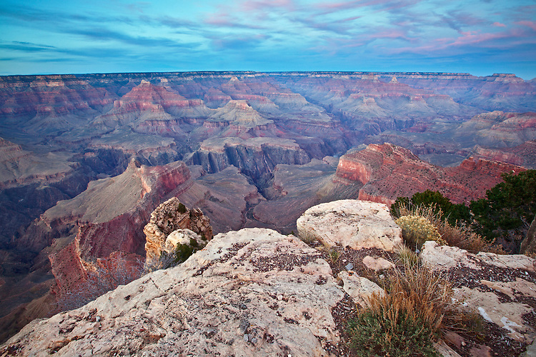 Sunset from Mather Point along the South Rim of the Grand Canyon National Park, Arizona, USA