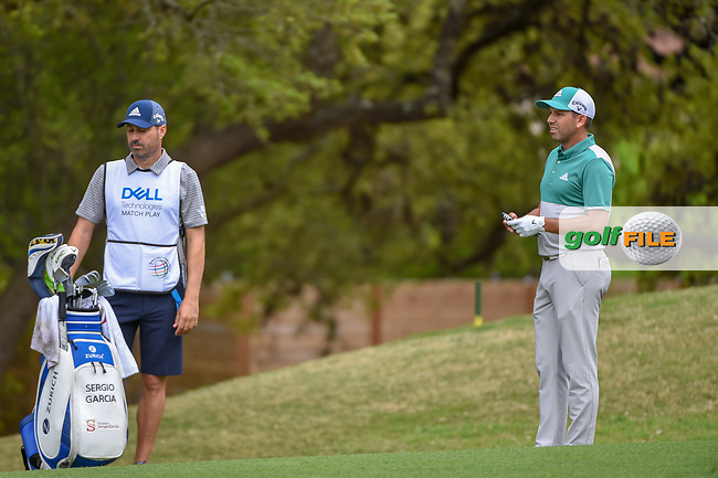 Sergio Garcia (ESP) looks over his approach shot on 6 during day 4 of the WGC Dell Match Play, at the Austin Country Club, Austin, Texas, USA. 3/30/2019.<br /> Picture: Golffile | Ken Murray<br /> <br /> <br /> All photo usage must carry mandatory copyright credit (© Golffile | Ken Murray)