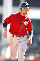 May 21, 2009:  Outfielder Trevor Crowe of the Columbus Clippers, International League Triple-A affiliate of the Cleveland Indians, during a game at Coca-Cola Field in Buffalo, NY.  Photo by:  Mike Janes/Four Seam Images