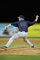 Pulaski Yankees relief pitcher Tyler Johnson (62) in action against the Burlington Royals at Burlington Athletic Stadium on August 25, 2019 in Burlington, North Carolina. The Yankees defeated the Royals 3-0. (Brian Westerholt/Four Seam Images)