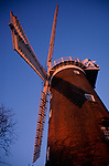 A913T9 Windmill sails and red brick tower Buttram's mill Woodbridge Suffolk England