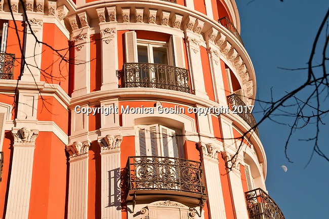 Balconies in Madrid, Spain