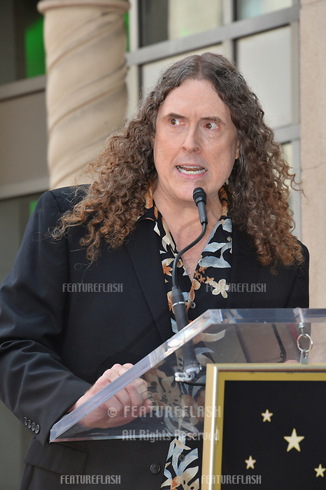 LOS ANGELES, CA. August 27, 2018: Weird Al Yankovic at the Hollywood Walk of Fame Star Ceremony honoring 'Weird Al' Yankovic.