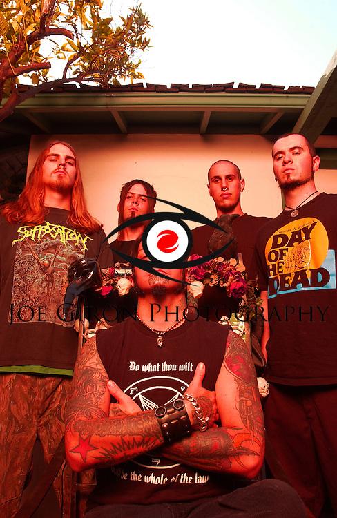 Various portrait sessions of the rock band, Devildriver