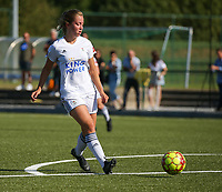 20190921 – LEUVEN, BELGIUM : OHL's Janne Huysmans is pictured during a women soccer game between  Oud Heverlee Leuven Ladies B and Eendracht Aalst Ladies on the fourth matchday of the Belgian Division 1 season 2019-2020, the Belgian women's football  national division 1, Saturday 21th September 2019 at the Bruinveld Youth Complex, Domeinstraat in Leuven , Belgium. PHOTO SPORTPIX.BE | SEVIL OKTEM