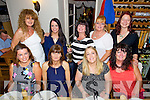 Ladies from Borg Warner Beru enjoying a night out. at Bella Bia's on Friday Back left to right, Mary Quinlivan, Linda Gaynor, Sue Berry, Martina Brosnan, Alex Buhl.  Front left to right, Nicola Mullins, Joan O'Regan, Margo Rogers, Patsy Clifford