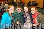 Pictured at the KDYS Youth Day Quiz on Sunday were l-r: Maire O'Connell, Darragh Begley Aoife O'Leary and Nora O'Donoughue (Cordal Youth Club).