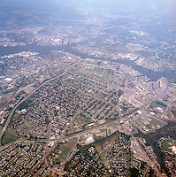 1998 September 05..Aerial..High altitude of census tracts around Elizabeth River in Portsmouth & Norfolk..Gene Woolridge.NEG# 11678 - 37.NRHA#..