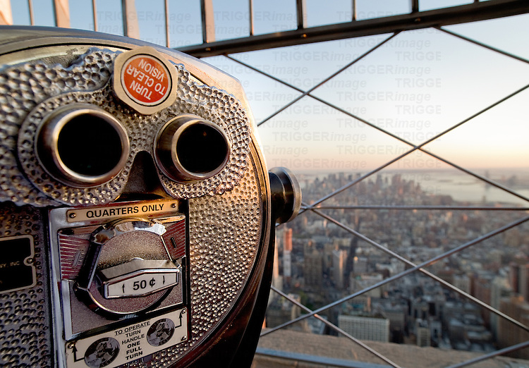 Viewing point from the top of the Empire State Building, New York, USA