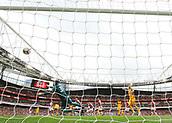 1st October 2017, Emirates Stadium, London, England; EPL Premier League Football, Arsenal versus Brighton; Brighton hit the bar late in the first half