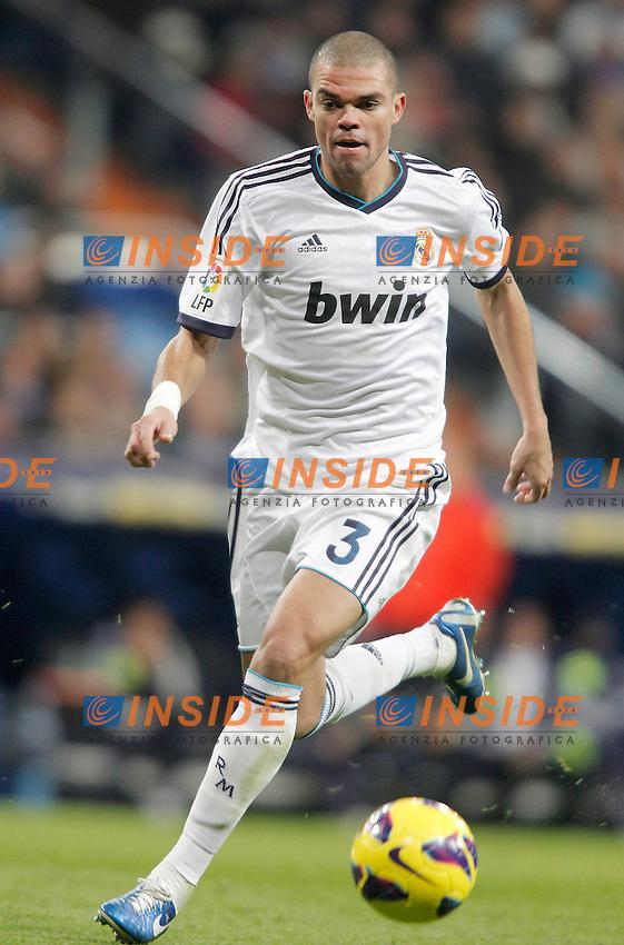 Real Madrid's Pepe during La Liga Match. December 02, 2012. (ALTERPHOTOS/Alvaro Hernandez) .Madrid 1/12/2012.Football Calcio 2012/2013 La Liga.Real Madrid Vs Atletico Madrid.Foto Alterphotos / Insidefoto.ITALY ONLY