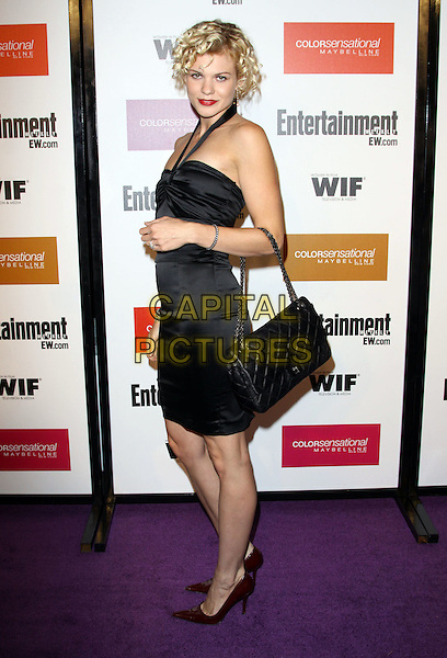 ANGEL McCORD.2009 Entertainment Weekly & Women In Film pre-Emmy party held At The Sunset Marquis Hotel, West Hollywood, California, USA..September 17th, 2009.emmys full length black dress halterneck chanel quilted .CAP/ADM/KB.©Kevan Brooks/AdMedia/Capital Pictures.
