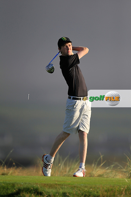 John Conroy (Bray) on the 2nd tee during the South of Ireland Amateur Open Championship Second Round at Lehinch Golf Club  28th July 2013 <br /> Picture:  Thos Caffrey / www.golffile.ie