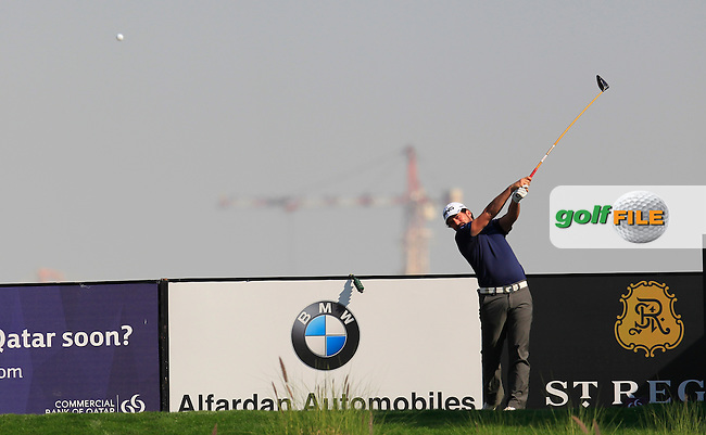 John PARRY (ENG) tees off the 9th tee during Thursday's Round 2 of the 2015 Commercial Bank Qatar Masters held at Doha Golf Club, Doha, Qatar.: Picture Eoin Clarke, www.golffile.ie: 1/22/2015