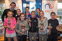 Hilversum, Netherlands, December 4, 2016, Winter Youth Circuit Masters, Winners giels<br /> Photo: Tennisimages/Henk Koster