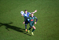 Oscar Threlkeld of Plymouth Argyle & Dayle Southwell of Wycombe Wanderers during the Sky Bet League 2 match between Wycombe Wanderers and Plymouth Argyle at Adams Park, High Wycombe, England on 14 March 2017. Photo by Andy Rowland / PRiME Media Images.