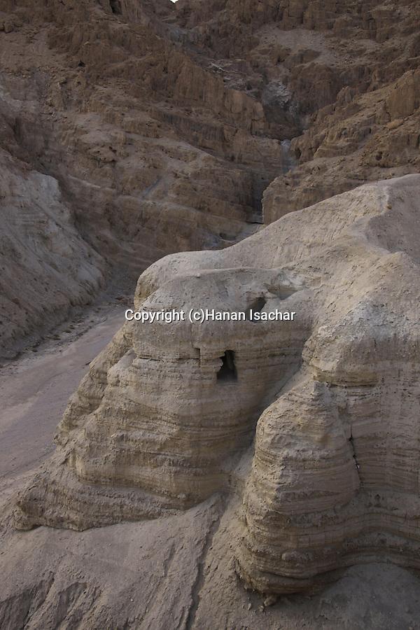 Dead Sea valley, cave 4 at Qumran