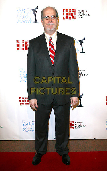 JOHN McLAUGHLIN .The 63rd annual Writers Guild Awards at the AXA Equitable Center on February 5, 2011 in New York, New York, NY, USA, 5th February 2011..full length grey gray suit red tie .CAP/ADM/PZ.©Paul Zimmerman/AdMedia/Capital Pictures.