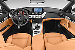 Stock photo of straight dashboard view of a 2014 BMW Z4 sDrive35i Lounge 2 Door Convertible 2WD Dashboard