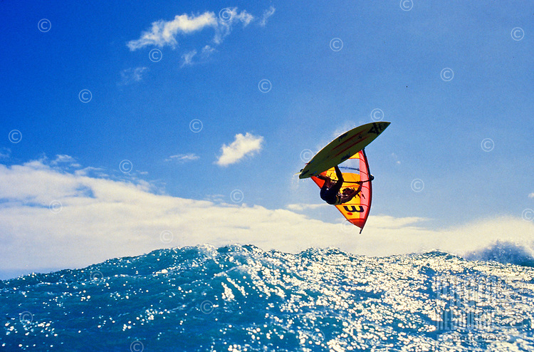 The windsurfing scenes of Backyards Sunset Beach, Oahu