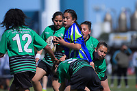 Action from the AIMS Games girls' rugby at Blake Park in Mount Maunganui, New Zealand on Wednesday, 12 September 2018. Photo: Dave Lintott / lintottphoto.co.nz