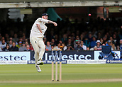 9th September 2017, Lords Cricket Ground, London, England; International test match series, third test, Day 3; England versus West Indies; Ben Stokes of England throws in to England Wicket Keeper Jonny Bairstow