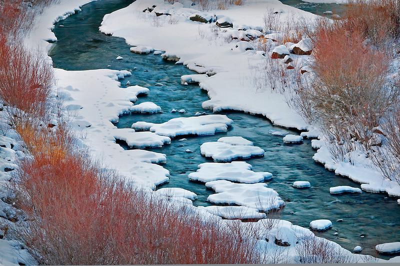 Deep Creek with snow. Oregon