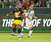 CARSON, CA - November 3, 2011: NY Red Bulls forward Thierry Henry (14) and LA Galaxy and Landon Donovan (10) during the match between LA Galaxy and NY Red Bulls at the Home Depot Center in Carson, California. Final score LA Galaxy 2, NY Red Bulls 1.