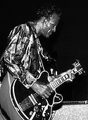 Chuck Berry, LIVE, 1986;<br /> Photo Credit: David Plastikl\AtlasIcons.com