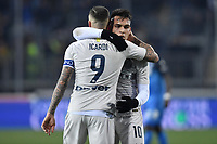 Mauro Icardi and Lautaro Martinez of Internazionale celebrate at the end of the Serie A 2018/2019 football match between Empoli and Internazionale at stadio Castellani, Empoli, December, 29, 2018 <br /> Foto Andrea Staccioli / Insidefoto