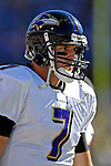 21 October 2007: Baltimore Ravens quarterback Kyle Boller in action against the Buffalo Bills at Ralph Wilson Stadium in Orchard Park, NY. The Bills defeated the Ravens 19-14 in front of 70,727 fans marking their second win of the 2007 season...Mandatory Photo Credit: Ed Wolfstein Photo
