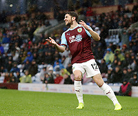 Burnley's Robbie Brady reacts<br /> <br /> Photographer Rich Linley/CameraSport<br /> <br /> The Premier League - Burnley v Leicester City - Saturday 16th March 2019 - Turf Moor - Burnley<br /> <br /> World Copyright © 2019 CameraSport. All rights reserved. 43 Linden Ave. Countesthorpe. Leicester. England. LE8 5PG - Tel: +44 (0) 116 277 4147 - admin@camerasport.com - www.camerasport.com