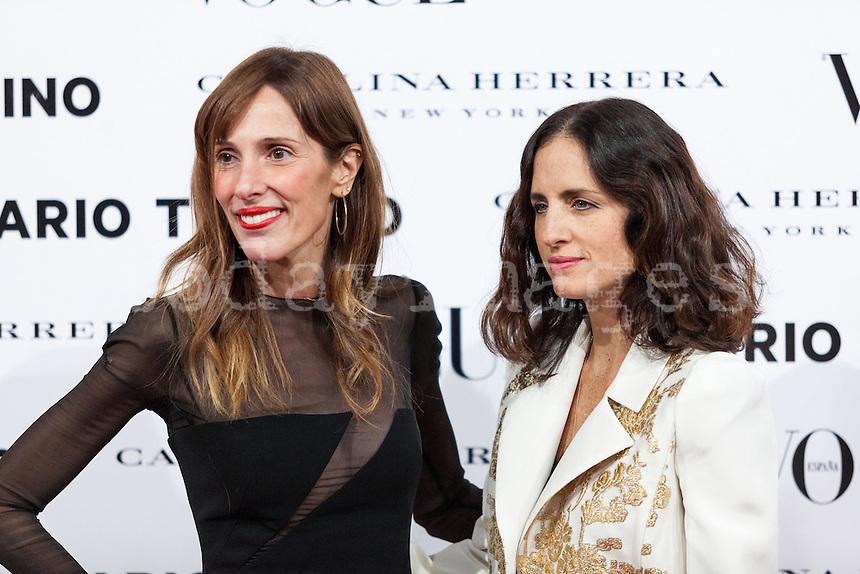 Yolanda Sacrist?°n and Carolina Herrera  at Vogue December Issue Mario Testino Party