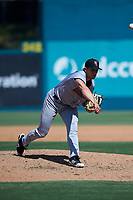 Inland Empire 66ers relief pitcher Isaac Mattson (23) during a California League game against the Lake Elsinore Storm on April 14, 2019 at The Diamond in Lake Elsinore, California. Lake Elsinore defeated Inland Empire 5-3. (Zachary Lucy/Four Seam Images)